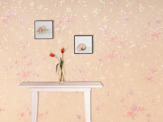 中式现代风同比玉 客厅餐厅电视背景墙壁纸