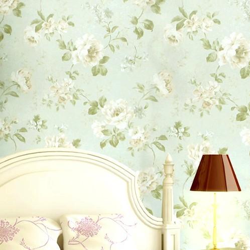 花朵田园风格墙纸 客厅卧室壁纸