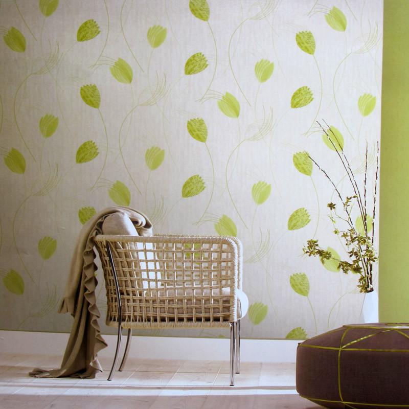 抽象花朵簡約田園風墻紙 沙發電視餐廳背景墻壁紙