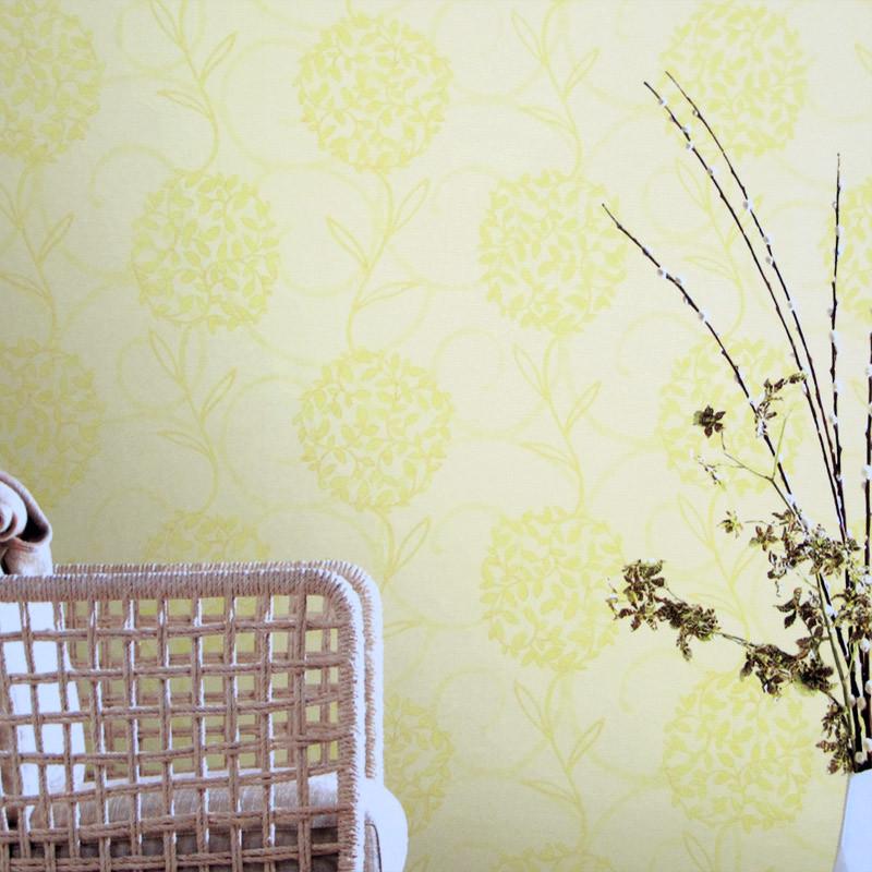 抽象花朵树叶 卧室书房背景墙壁纸