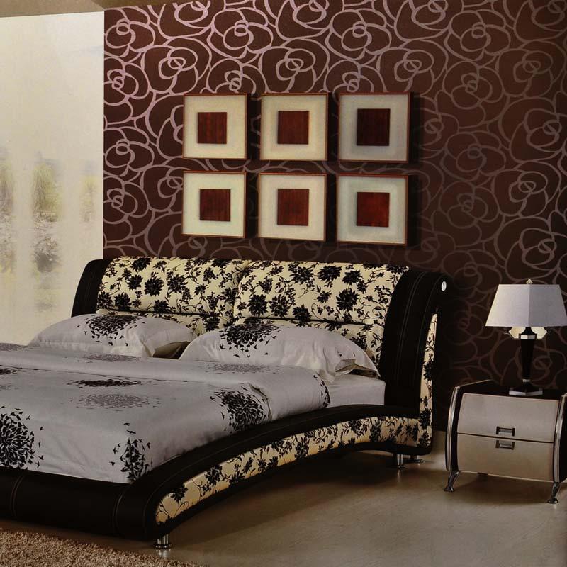 現代中式玫瑰大花朵 客廳臥室電視墻壁紙
