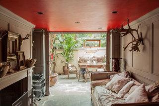 英伦风格乡村别墅古典小客厅设计
