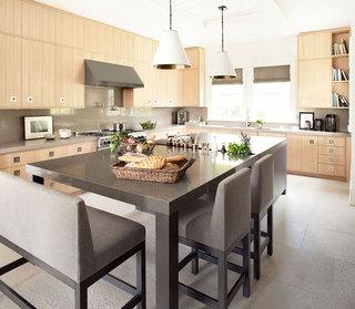 欧式田园风格欧式别墅整体厨房效果图