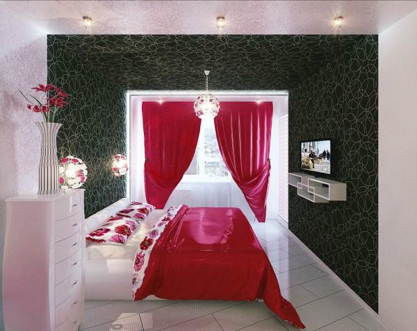 现代简约风格单身公寓时尚卧室装修图片