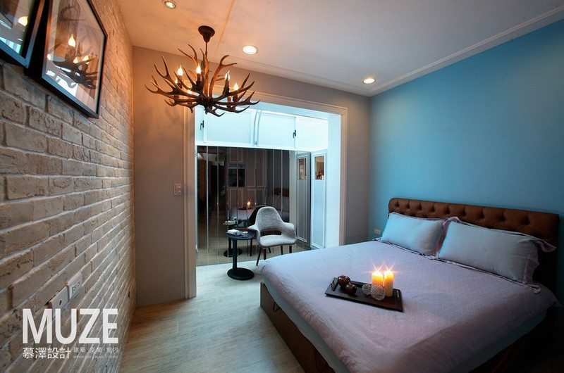 简约风格二居室简洁卧室大理石餐桌图片