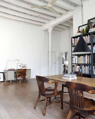 现代简约风格白色140平米以上阁楼效果图