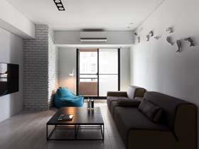 台湾纯白简约公寓装修