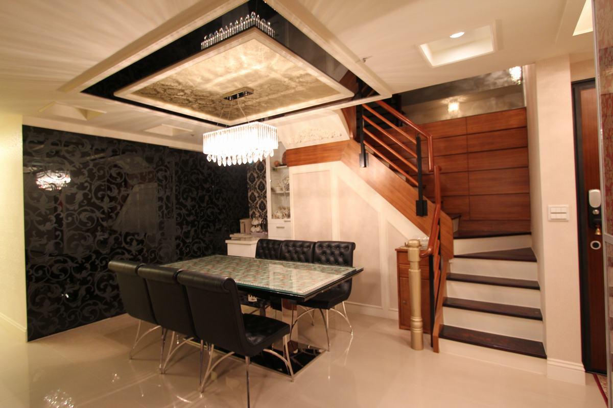 新古典风格卧室复式公寓大气大理石楼梯设计