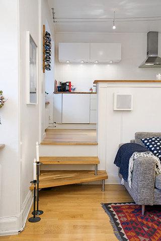 现代简约风格温馨楼梯壁炉效果图