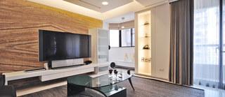 简约风格奢华豪华型电视背景墙装修效果图