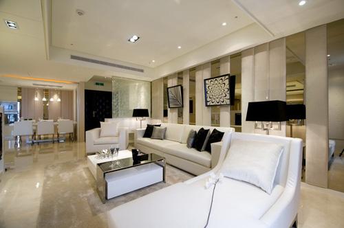 简约风格别墅奢华沙发背景墙装修效果图