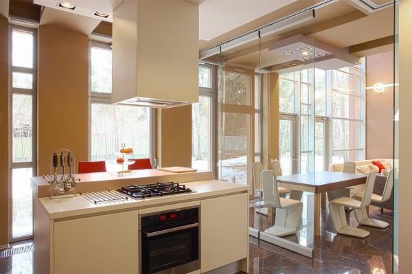 现代简约风格简洁整体厨房效果图