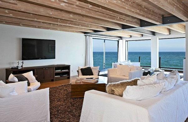 现代简约风格实用原木色小客厅明星家居