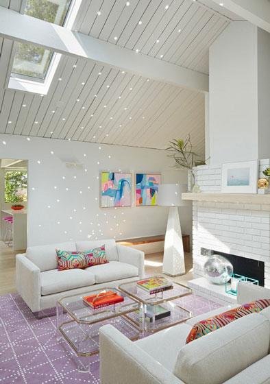 现代简约风格可爱20万以上客厅装修