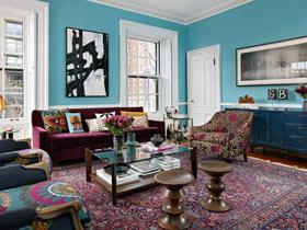 醒目 大胆 来自波士顿的多彩联排别墅