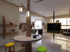 会呼吸的自然灵感 台湾现代家庭公寓设计图