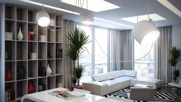 混搭风格四房豪华型客厅灯图片