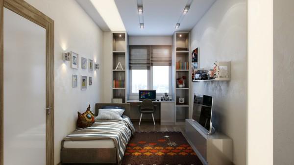 混搭风格四房豪华型书房设计