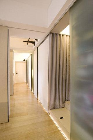 现代简约风格公寓厨房推拉门隔断装修效果图