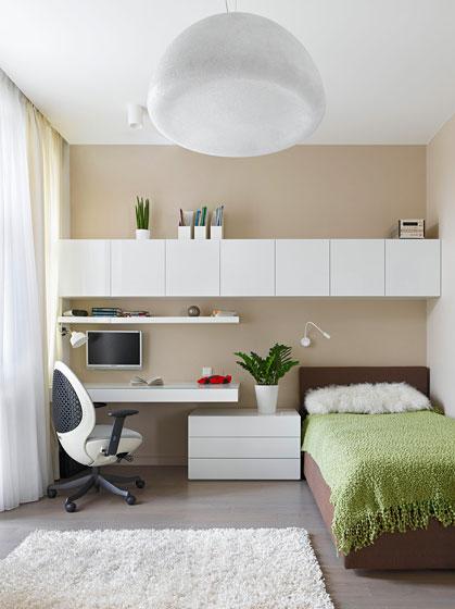 现代简约风格公寓温馨白色卧室卧室灯效果图