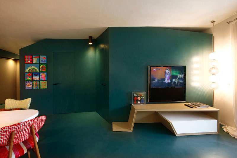 混搭风格简洁60平米电视背景墙灯光图片