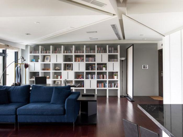 现代简约风格公寓时尚开放式厨房书柜图片-您正在访问第5页 装修效果图片