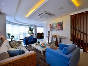 多姿多彩 簡約藝術風格復式公寓