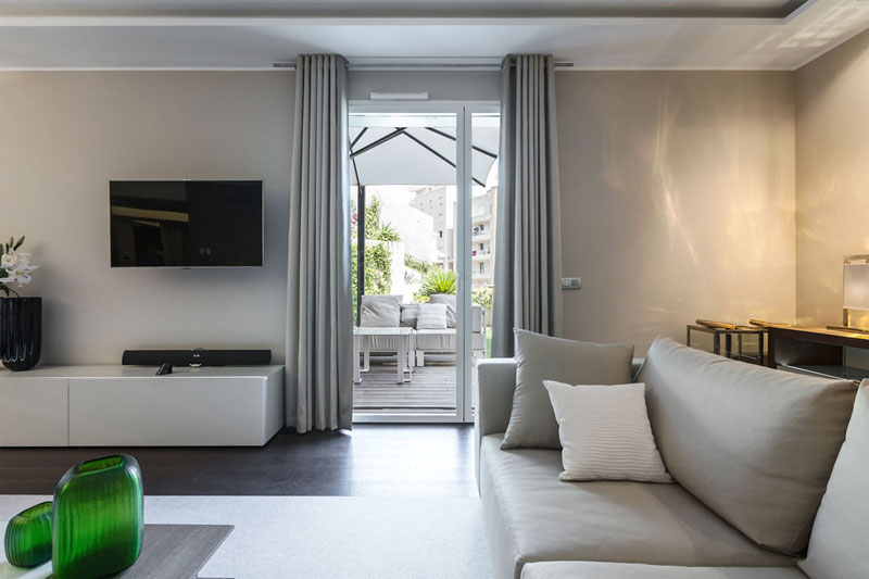 现代简约风格公寓舒适沙发效果图