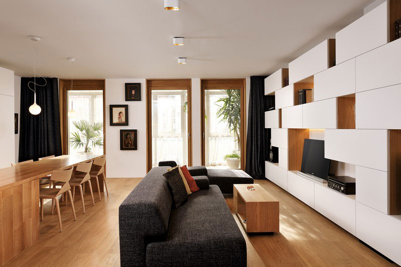 现代简约风格公寓温馨原木色100平米客厅沙发效果图