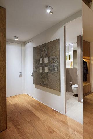 现代简约风格公寓温馨原木色100平米过道设计