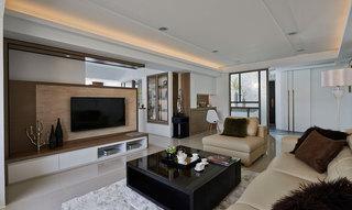新中式风格公寓电视背景墙旧房改造家装图