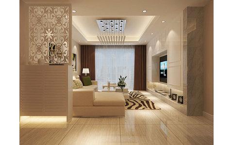 10-15万110平米欧式三居室装修效果图,简欧装修案例图图片