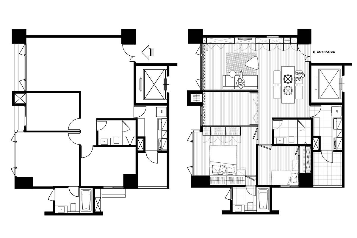 简约风格公寓温馨户型图