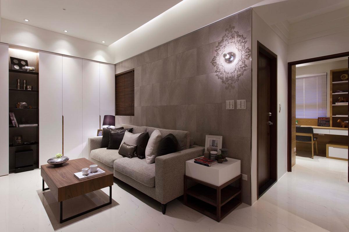 简约风格单身公寓温馨装修效果图