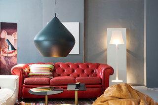 现代简约风格舒适真皮沙发旧房改造家装图片