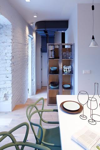 混搭风格80平米餐桌旧房改造家装图