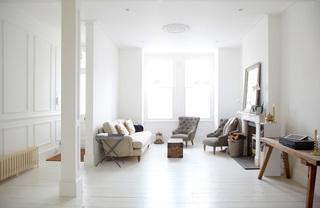 简约风格白领公寓梦幻白色隔断墙效果图
