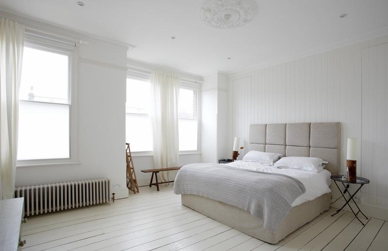 简约风格白领公寓梦幻白色卧室设计