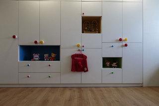 混搭风格公寓温馨白色140平米以上儿童房整体衣柜设计图