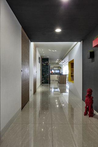混搭风格公寓温馨140平米以上儿童房过道设计图纸
