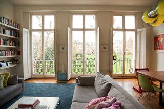 混搭风格小户型舒适阳台窗帘效果图