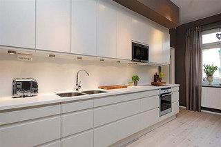 北欧风格公寓舒适140平米以上整体厨房设计图纸