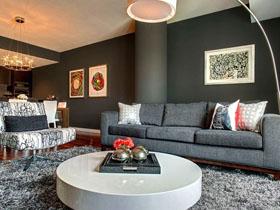大胆色彩搭配 颜色与纹理突出的豪华公寓