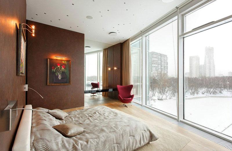 公寓舒适原木色阁楼卧室背景墙卧室灯效果图