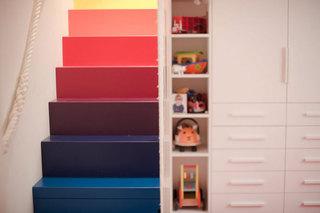 现代简约风格公寓温馨儿童房楼梯装修图片