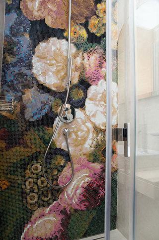现代简约风格公寓艺术黑白100平米卫浴间瓷砖装修效果图