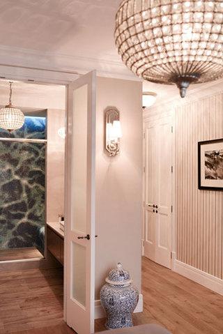 现代简约风格公寓艺术黑白100平米过道吊顶装修效果图