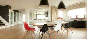 时髦的灯光 大胆的配色 个性化现代简约黑白主题公寓
