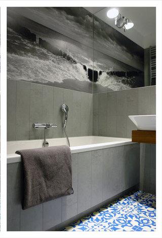 混搭风格一室一厅豪华型140平米以上浴缸旧房改造平面图