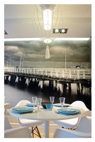 混搭风格一室一厅豪华型140平米以上餐厅背景墙旧房改造设计图纸